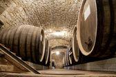 Barrels In A Wine-cellar. — Stock Photo