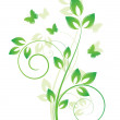 Magic spring tree with butterflies — Stock Vector