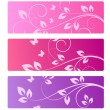 Collection of floral backgrounds — Stock Vector