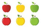 Apple naklejki kolekcja — Wektor stockowy