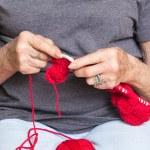 Senior Woman Knitting — Stock Photo #10767410