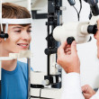 Visual Field Test For Glaucoma - Foto Stock