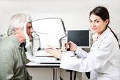 Badania badanie wzroku — Zdjęcie stockowe