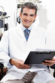 Confident Optometrist With a Clipboard — Stock Photo