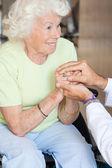 Doctor Comforting Senior Woman — Stock Photo