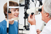 Visual Field Test For Glaucoma — Stock Photo