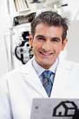 Friendly Eye Doctor Smiling — Stock Photo