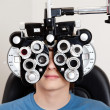 exame de optometria — Foto Stock