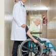 Senior Woman In a Wheel Chair — Stock Photo