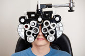 Exame de optometria — Foto Stock