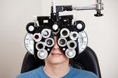 眼科视光学考试 — 图库照片