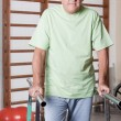 Senior Man having ambulatory therapy - Stock Photo