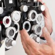 Phoropter For an Eye Examination - Stock Photo