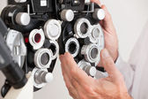 Phoropter For an Eye Examination — Stock Photo