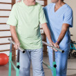 Senior Man having ambulatory therapy - Stockfoto