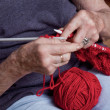 Senior Woman Knitting - Lizenzfreies Foto