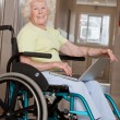 Stock Photo: Woman on Wheelchair Using Laptop