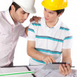 Royalty-Free Stock Photo: Two Architects Using Digital Tablet