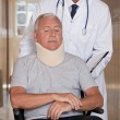 Doctor with Patient in Wheelchair — Stock Photo
