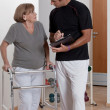 Stock Photo: Patient with Walker and Physician