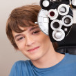 Male Patient Having Eyes Test - Foto Stock