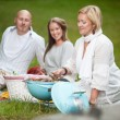 Friends BBQ in the Park — Stock Photo
