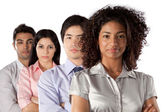 Grupo multiétnico de empresarios — Foto de Stock