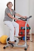 Female Doing Physical Exercise — Stock Photo
