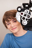 Male Patient Having Eyes Test — Stock Photo