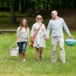 Стоковое фото: Friends On Weekend Outing