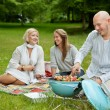 Royalty-Free Stock Photo: Friends in Park Eating BBQ Picnic