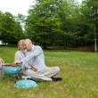 Couple At An Outdoor Picnic — Stock Photo #11659622