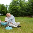 Couple At An Outdoor Picnic — Stock Photo