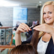beautician at parlor — Stock Photo