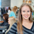 Young Hairdresser Smiling — Stock Photo