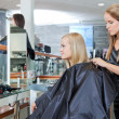 Royalty-Free Stock Photo: Getting Female Ready For Haircut
