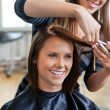 Woman Getting a Haircut — Stock Photo #11684152