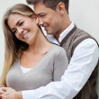 Young Man Embracing Woman — Stock Photo