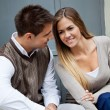 Stock Photo: Couple Sitting Together