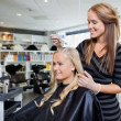 Hair Dye at Beauty Salon - Foto Stock
