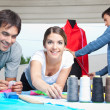 Fashion Designers Working Together — Stock Photo