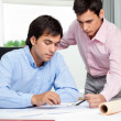 Architects Discussing Work — Stock Photo
