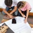 Royalty-Free Stock Photo: Couple With House Plans