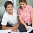 Couple With House Plans — Stock Photo
