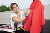 Female Seamstress — Stock Photo