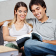 Couple Reading Book — Stock Photo