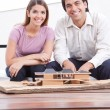 Two Architects with House Model — Stock Photo