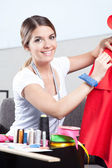 Portrait of Female Dressmaker — Stock Photo
