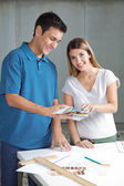 Happy Architects In Casuals Working Together — Stock Photo