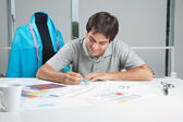 Designer Making Rough Sketches — Stock Photo